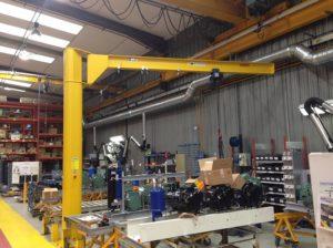 Fabricant potence levage, potence sur fût 500kg, flèche inversée 4 mètres